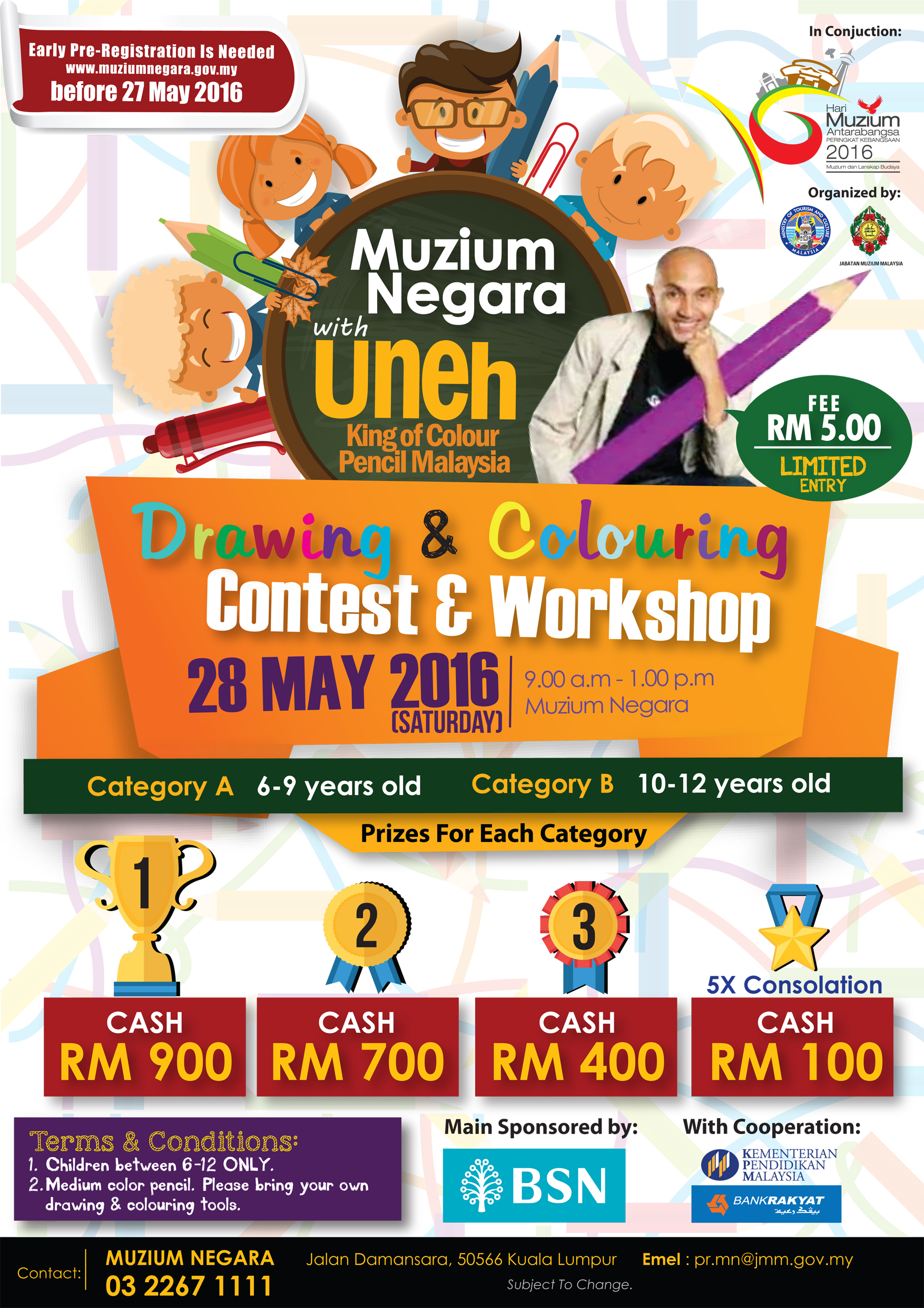 Drawing and Colouring Contest and Workshop with Uneh