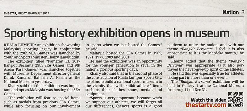 Sporting history exhibition opens in museum