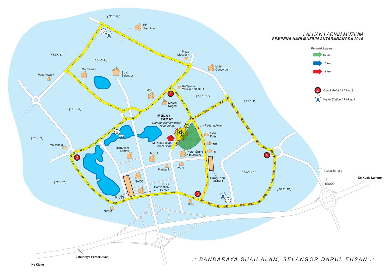 Peta Larian Muzium Hari Muzium Antarabangsa Peringkat Kebangsaan Selangor 2014