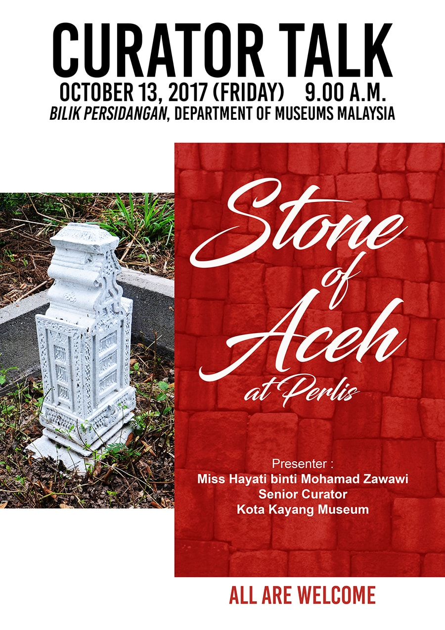 Curator Talk: Stone Of Aceh At Perlis