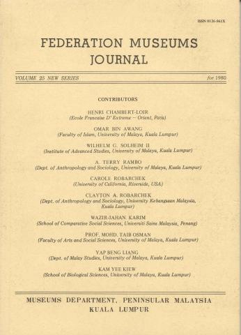 Jurnal Muzium Persekutuan Jld. 25