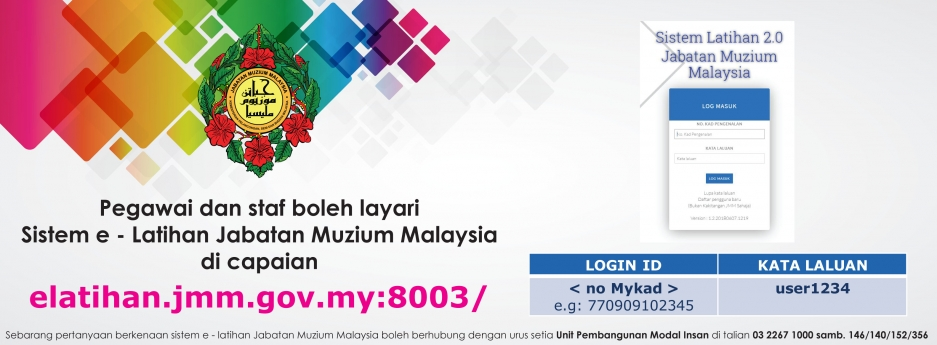 Sistem eLatihan Jabatan Muzium Malaysia