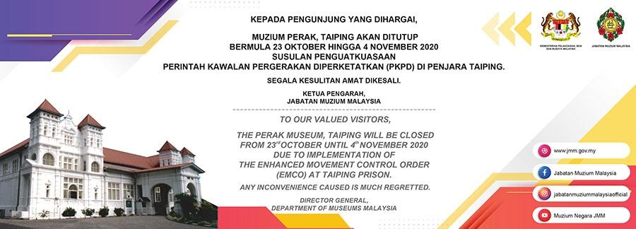 Muzium Perak, Taiping Akan Ditutup